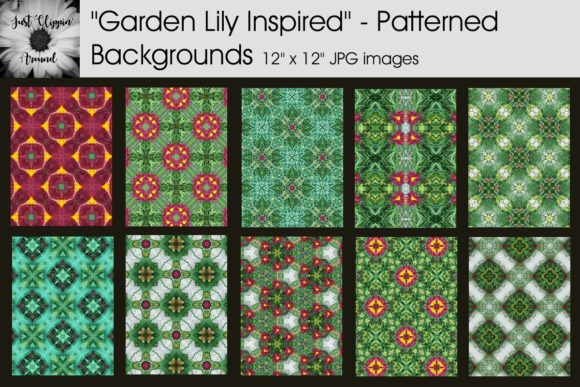 Garden Lily Patterned Backgrounds Graphic Backgrounds By justclippinaround - Image 1