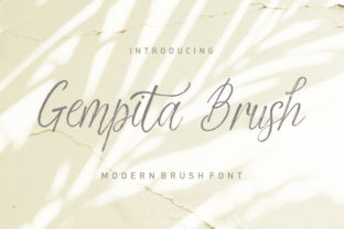 Gempita Brush Script & Handwritten Font By Stripes Studio
