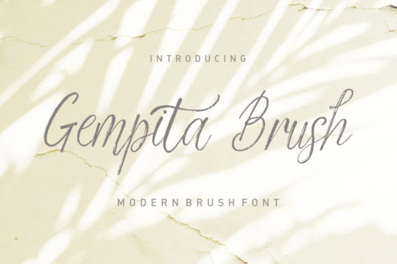 Print on Demand: Gempita Brush Script & Handwritten Font By Stripes Studio