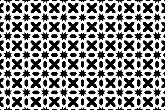 Download Free Geometric Bold Pattern Black White Graphic By Noory Shopper for Cricut Explore, Silhouette and other cutting machines.