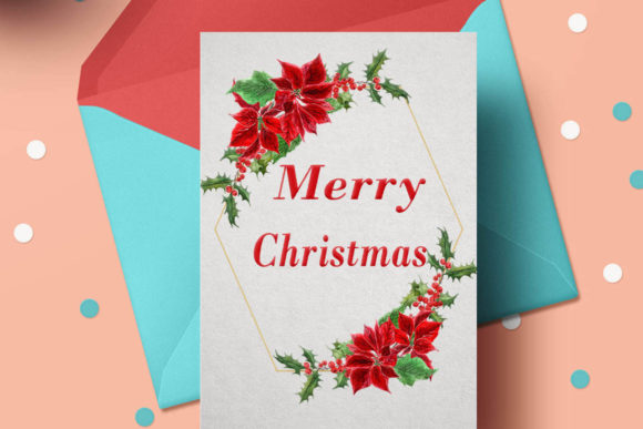 Geometric ChristmasFrames Clipart Graphic Illustrations By LeCoqDesign - Image 3