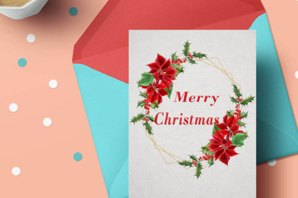 Geometric ChristmasFrames Clipart Graphic Illustrations By LeCoqDesign - Image 5