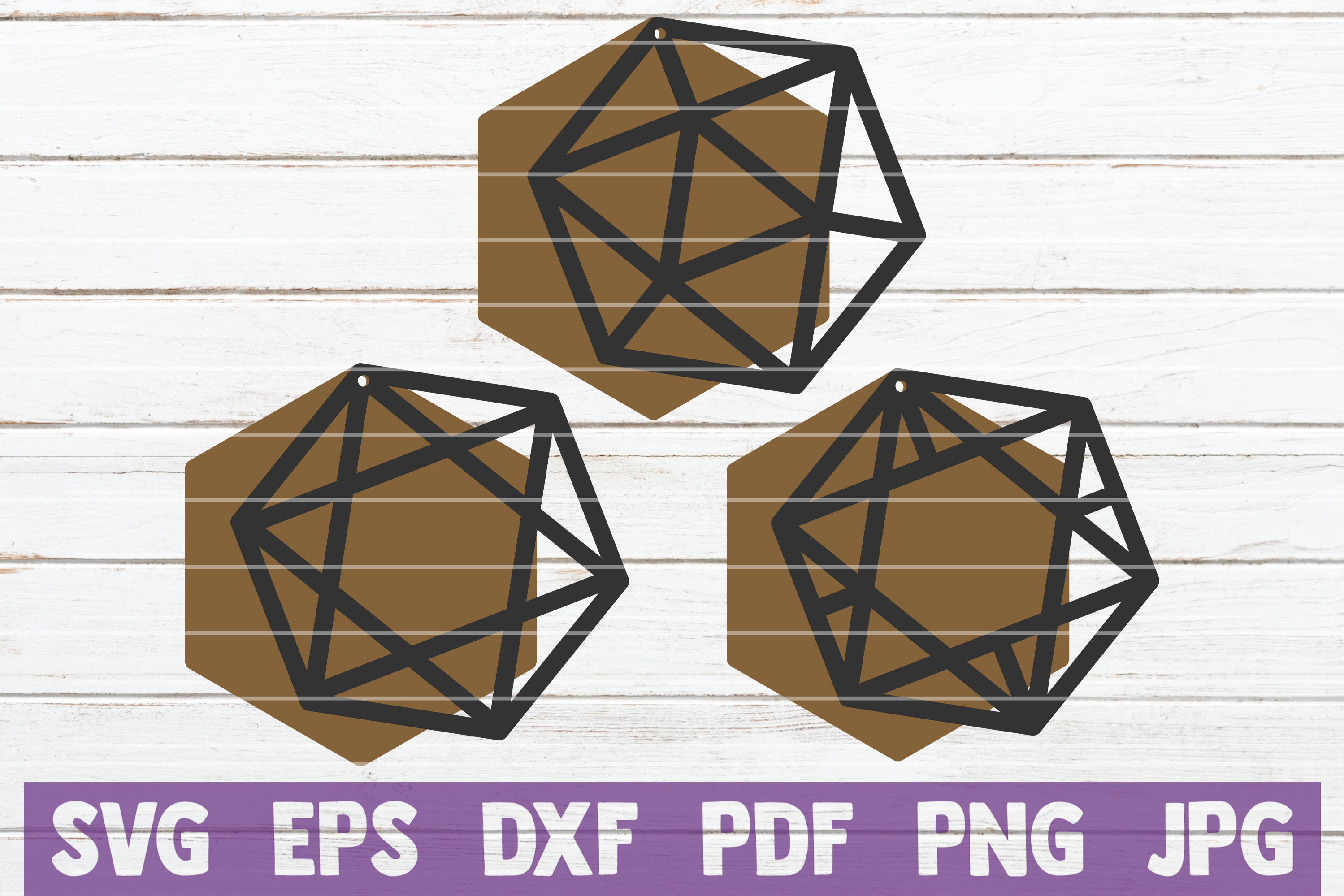 Download Free Geometric Earrings Svg Bundle Graphic By Mintymarshmallows for Cricut Explore, Silhouette and other cutting machines.