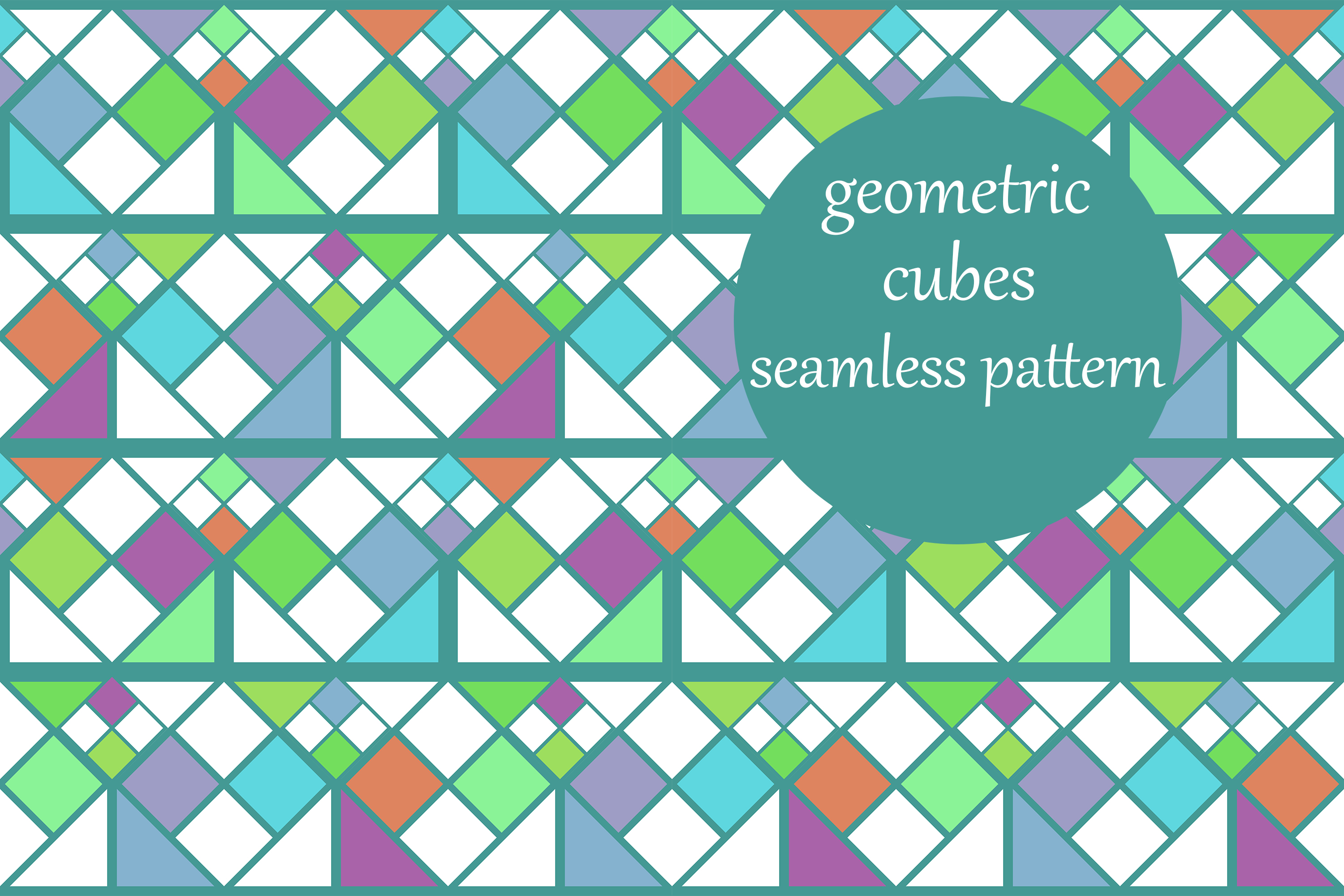 Download Free Geometric Rubiks Cube Pattern Graphic By Brightgrayart for Cricut Explore, Silhouette and other cutting machines.