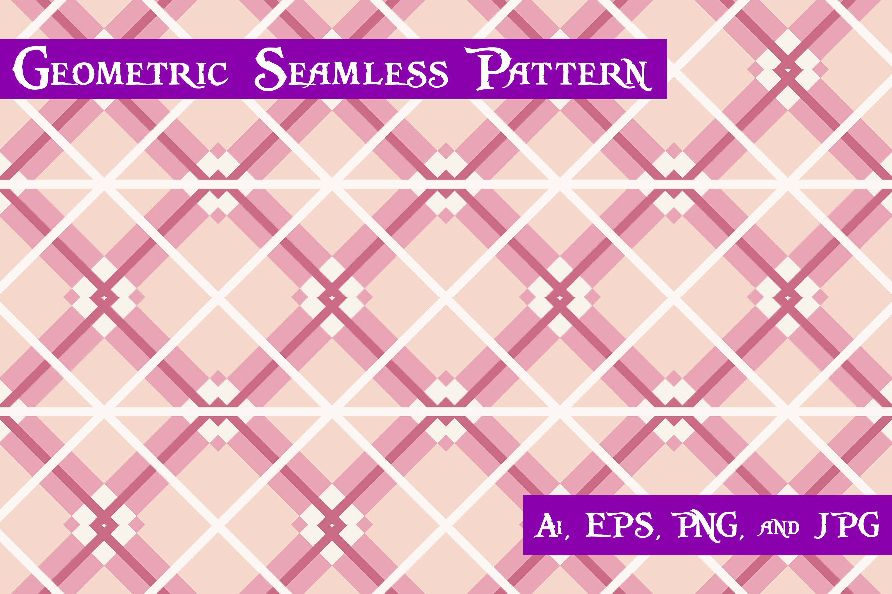 Download Free Geometric Seamless Pattern Graphic By Purplespoonpirates for Cricut Explore, Silhouette and other cutting machines.