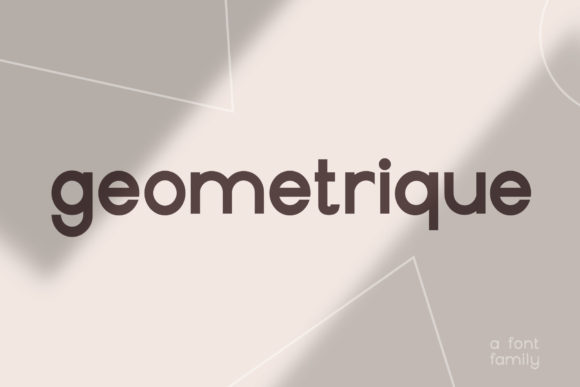 Print on Demand: Geometrique Sans Serif Font By Christine Teixeira