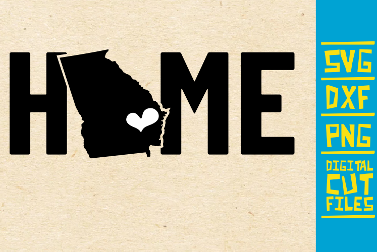 Download Free Georgia Home State Usa Vector Graphic By Svgyeahyouknowme for Cricut Explore, Silhouette and other cutting machines.