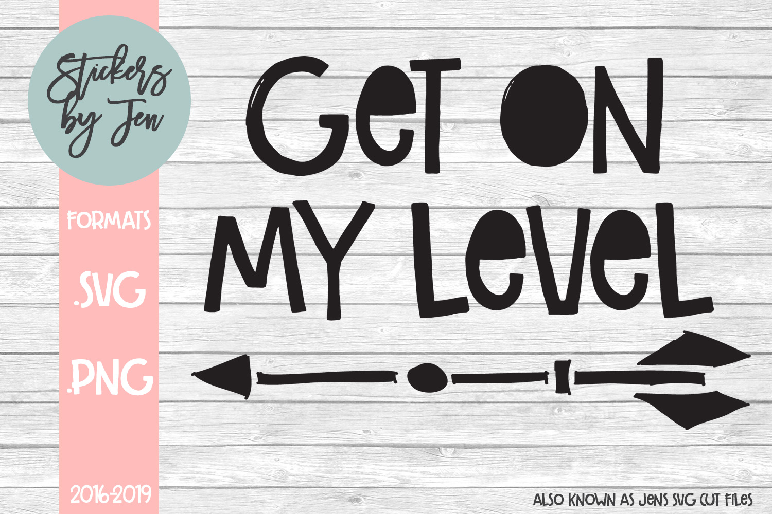 Download Free Get On My Level Svg Graphic By Stickers By Jennifer Creative for Cricut Explore, Silhouette and other cutting machines.