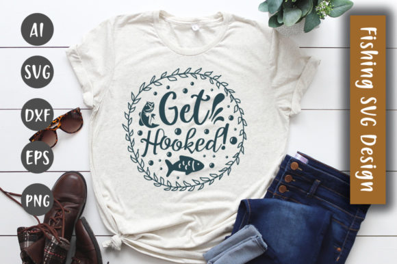 Print on Demand: Get Hooked SVG Design Graphic Crafts By CreativeArt