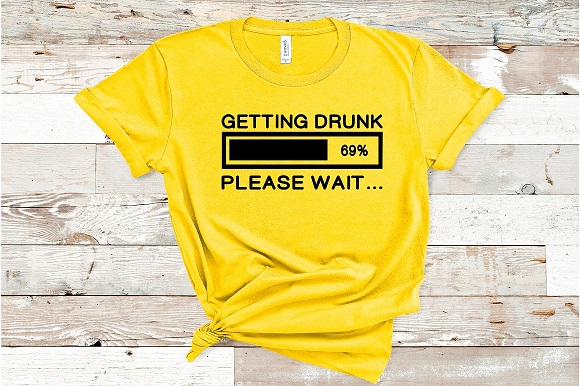 Download Free Getting Drunk Please Wait Grafico Por Family Creations for Cricut Explore, Silhouette and other cutting machines.