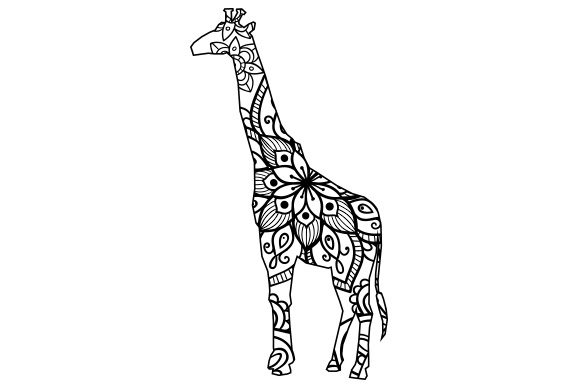 Giraffe Mandala Line Art Style Animals Craft Cut File By Creative Fabrica Crafts