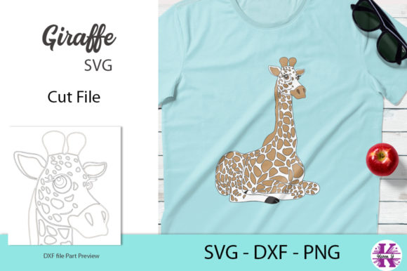 Giraffe Svg Cut File Svg Dxf Png Graphic By Karen J Creative