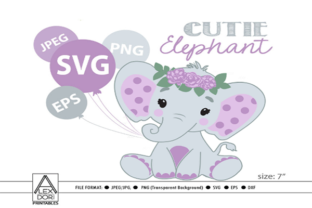 Download Free Girl Elephant Vector Clip Art Cricut Graphic By Adlydigital for Cricut Explore, Silhouette and other cutting machines.