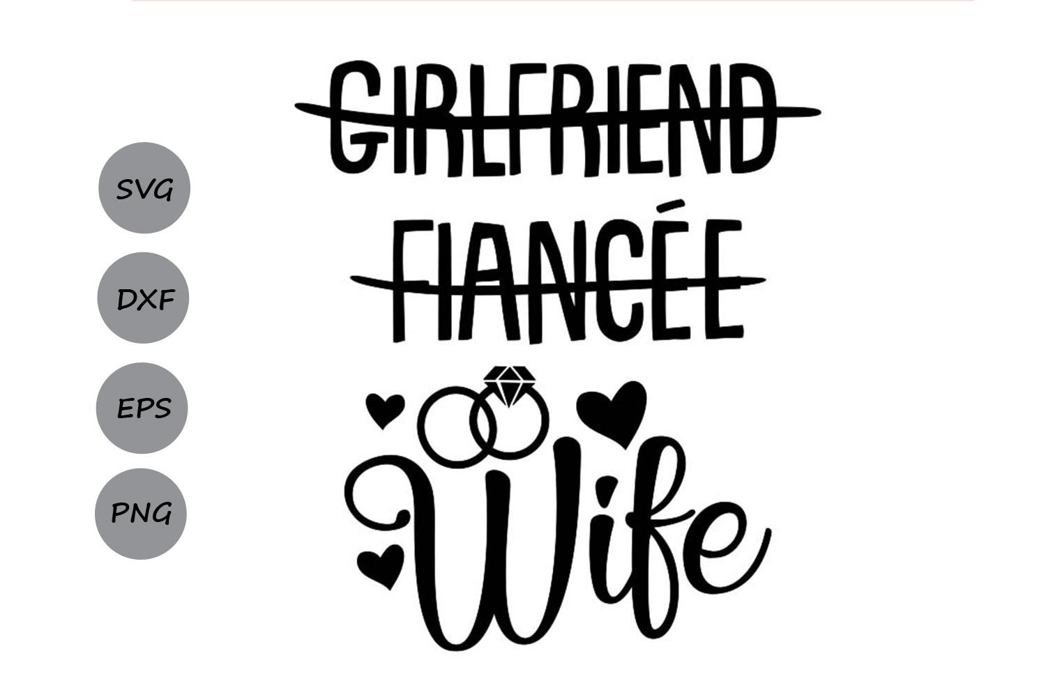 Download Free Girlfriend Fiancee Wife Graphic By Cosmosfineart Creative Fabrica for Cricut Explore, Silhouette and other cutting machines.