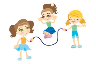 Girls Playing Jump Rope Craft Design By Creative Fabrica Crafts
