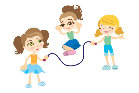 Girls Playing Jump Rope Games Craft Cut File By Creative Fabrica Crafts