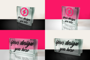 Glass Block Product Mock Up Set Graphic By RisaRocksIt