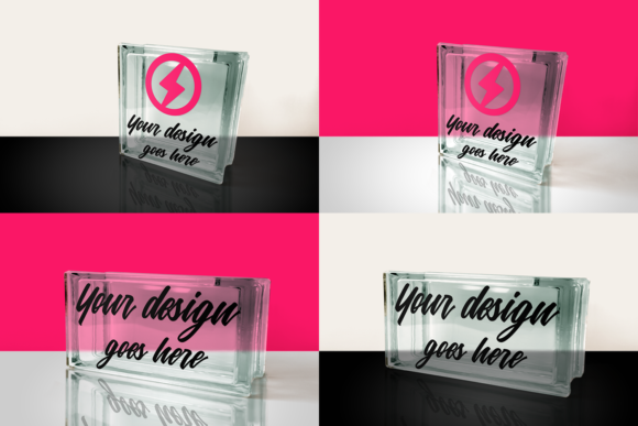 Glass Block Product Mock Up Set Graphic Product Mockups By RisaRocksIt - Image 1