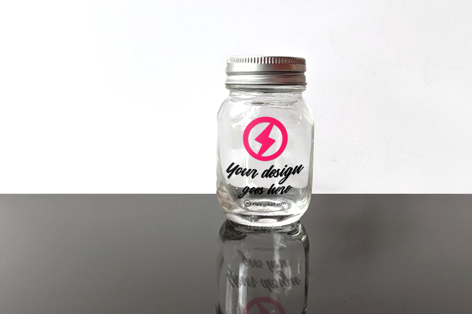 Download Free Glass Canning Jar Product Mockkup Graphic By Risarocksit for Cricut Explore, Silhouette and other cutting machines.