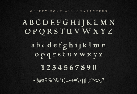 Print on Demand: Glippy Sans Serif Font By peterdraw - Image 7