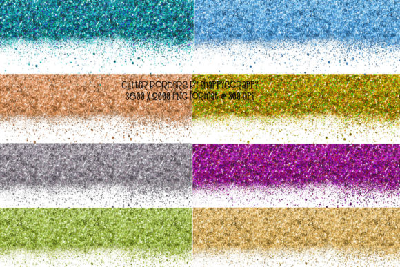 Glitter Borders Graphic Backgrounds By Snappyscrappy - Image 1