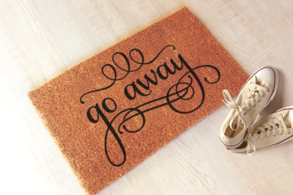 Go Away Funny Doormat Graphic Crafts By RisaRocksIt - Image 1