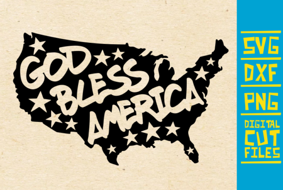 Download Free God Bless America Svg Graphic By Svgyeahyouknowme Creative Fabrica for Cricut Explore, Silhouette and other cutting machines.