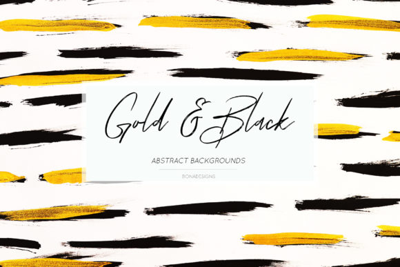 Gold & Black Backgrounds, Gold Textures Graphic By damlaakderes