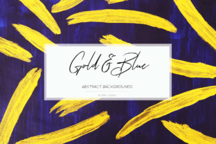 Download Free Gold Blue Digital Paper Gold Background Graphic By Bonadesigns for Cricut Explore, Silhouette and other cutting machines.
