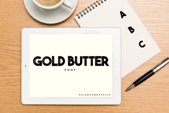 Print on Demand: Gold Butter Slab Serif Font By RainbowGraphicx