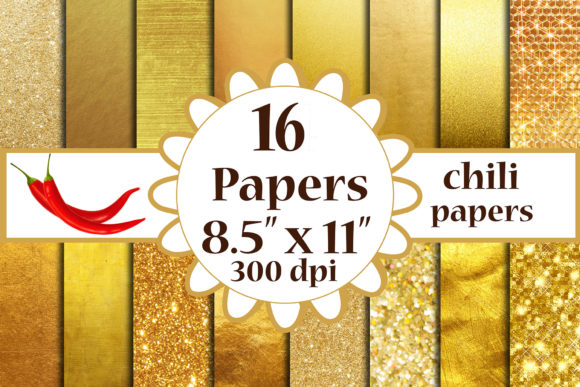 Gold Foil Paper, Metallic  Background A4 Graphic By ChiliPapers