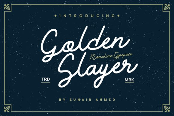 Print on Demand: Golden Slayer Script & Handwritten Font By ZHR Creative