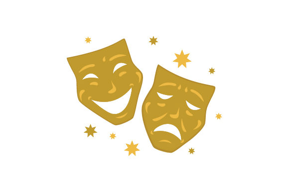 Download Free Golden Theater Masks Svg Cut File By Creative Fabrica Crafts for Cricut Explore, Silhouette and other cutting machines.