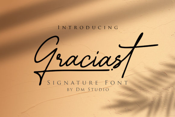 Print on Demand: Graciast Script & Handwritten Font By dmletter31 - Image 1