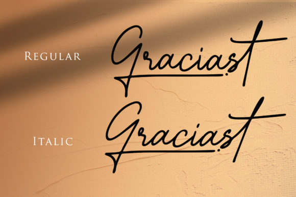 Print on Demand: Graciast Script & Handwritten Font By dmletter31 - Image 8