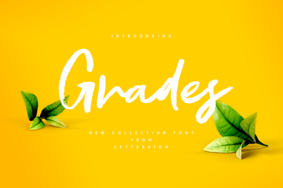 Print on Demand: Grades Script & Handwritten Font By Letteratom