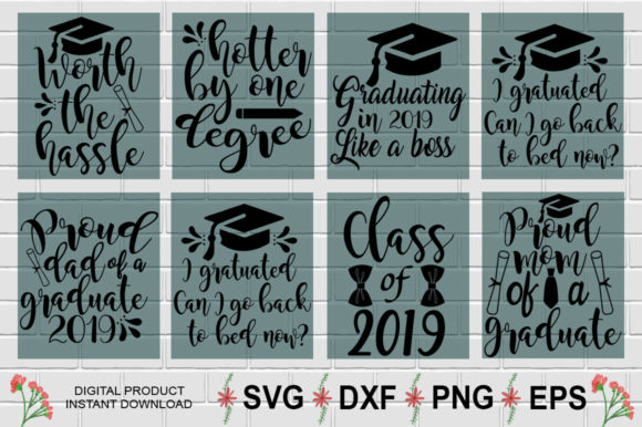 Download Free Graduation Design Bundle Graphic By Aesthetic Studio Creative for Cricut Explore, Silhouette and other cutting machines.