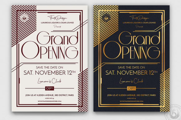Download Free Grand Opening Flyer Template V2 Grafik Von Thatsdesignstore for Cricut Explore, Silhouette and other cutting machines.