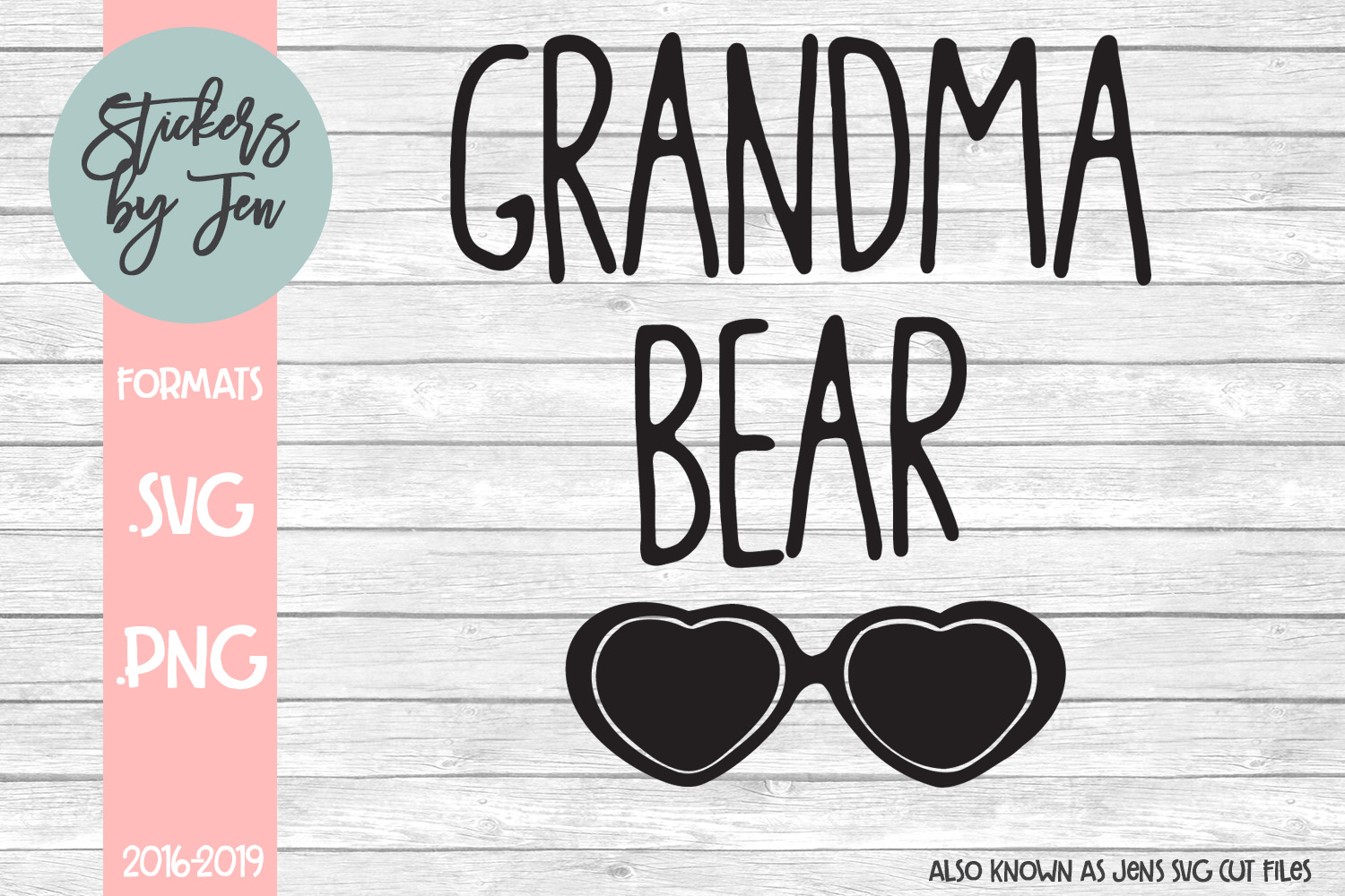 Download Free Grandma Bear Svg Graphic By Stickers By Jennifer Creative Fabrica for Cricut Explore, Silhouette and other cutting machines.
