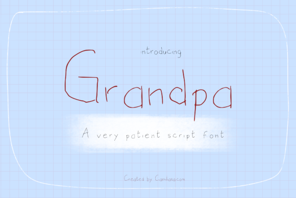 Print on Demand: Grandpa Script & Handwritten Font By Inkclouddesign