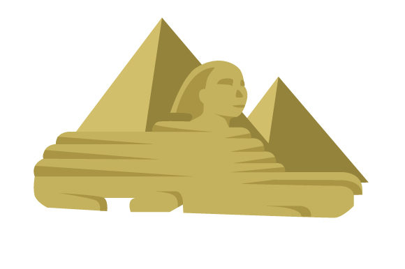 Great Pyramid of Giza with Sphynx Travel Craft Cut File By Creative Fabrica Crafts