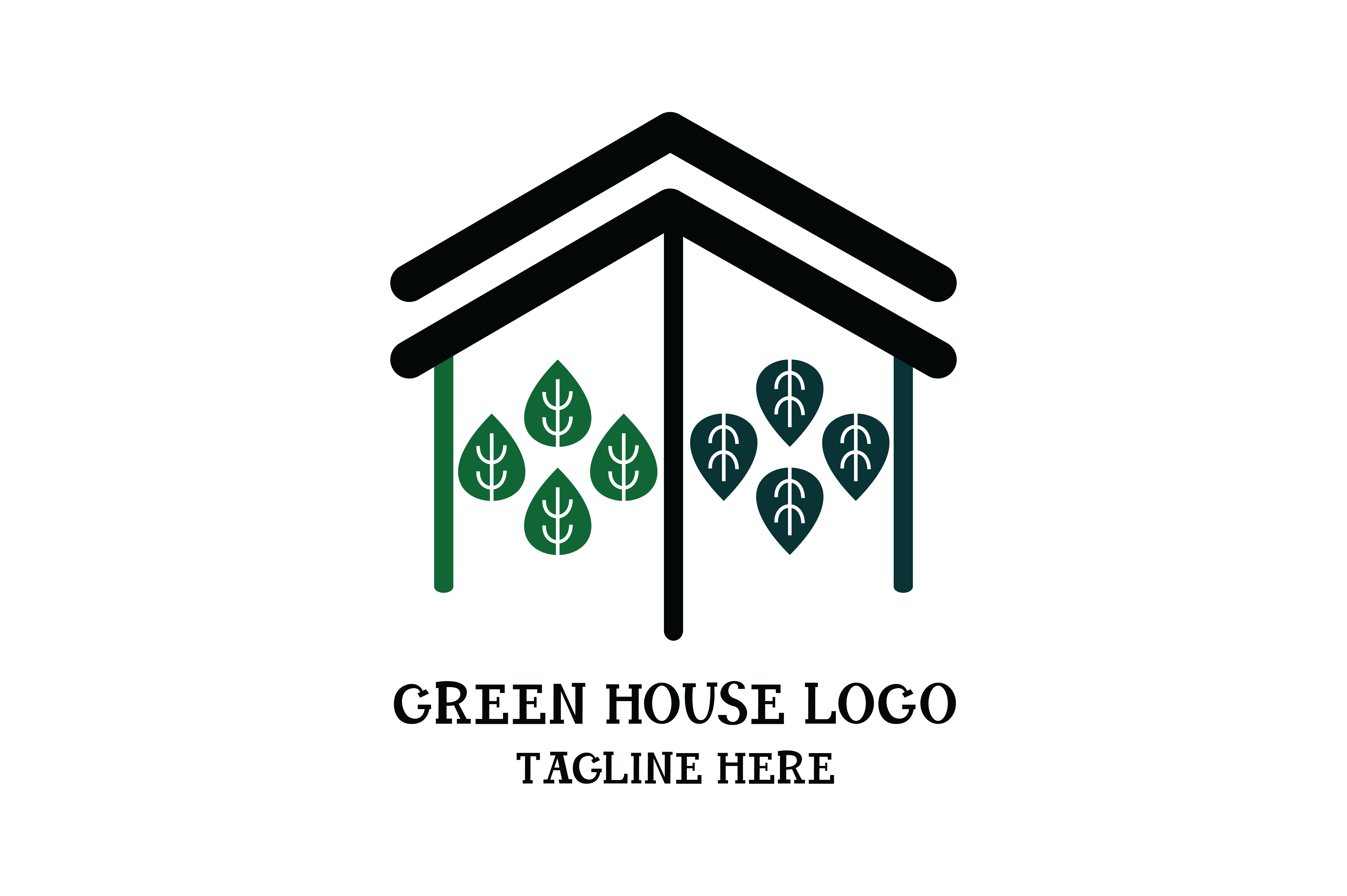 Download Free Green House Logo Vector Grafico Por Yuhana Purwanti Creative for Cricut Explore, Silhouette and other cutting machines.