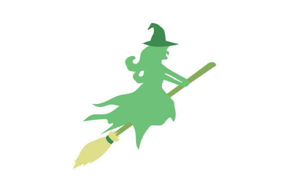 Download Free Green Witch Flying On Broom Svg Plotterdatei Von Creative for Cricut Explore, Silhouette and other cutting machines.