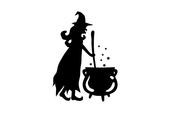 Download Free Green Witch Stirring Cauldron Svg Cut File By Creative Fabrica for Cricut Explore, Silhouette and other cutting machines.