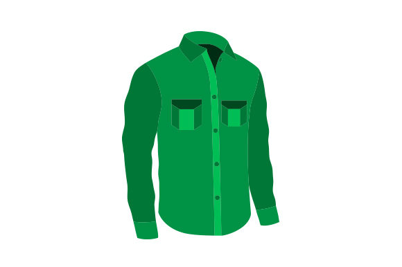 Green Shirt with Pockets Beauty & Fashion Craft Cut File By Creative Fabrica Crafts