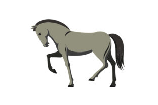 Grey Colored Horse Craft Design By Creative Fabrica Crafts