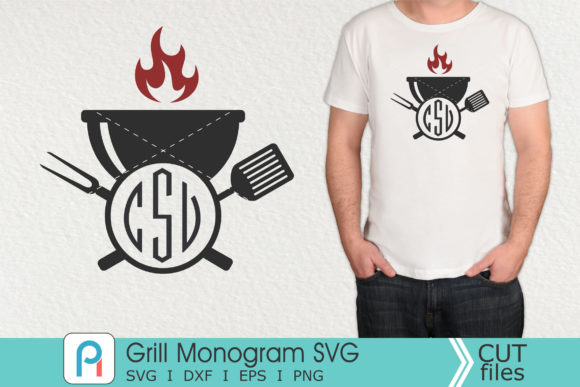 Grill Monogram Svg, Grill Svg, Grill Dxf Graphic Crafts By Pinoyartkreatib
