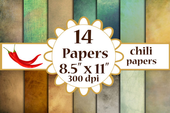 Grunge Texture Paper, Grunge A4 Papers Graphic Crafts By ChiliPapers