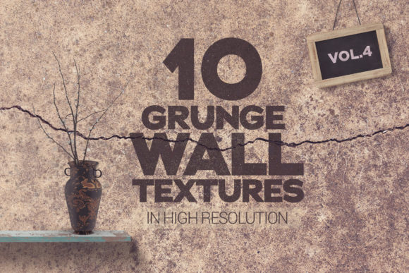 Grunge Wall Textures Vol 4 X10 Graphic Textures By SmartDesigns - Image 1