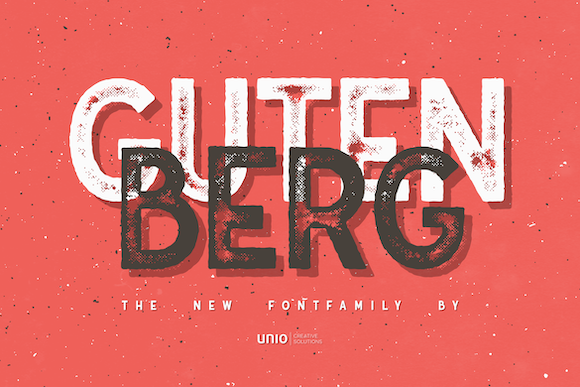 Print on Demand: Gutenberg Family Display Font By unio.creativesolutions - Image 1